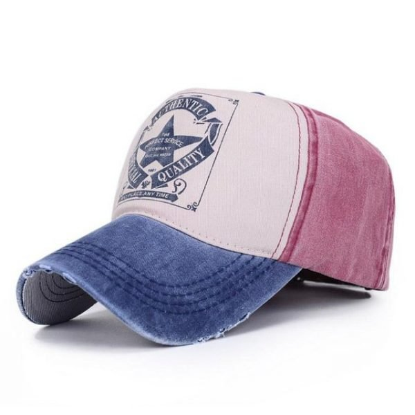 [AETRENDS] 6 Colors ! Star Patchwork Baseball Cap Men or Women Polo Hats Z-1462 20