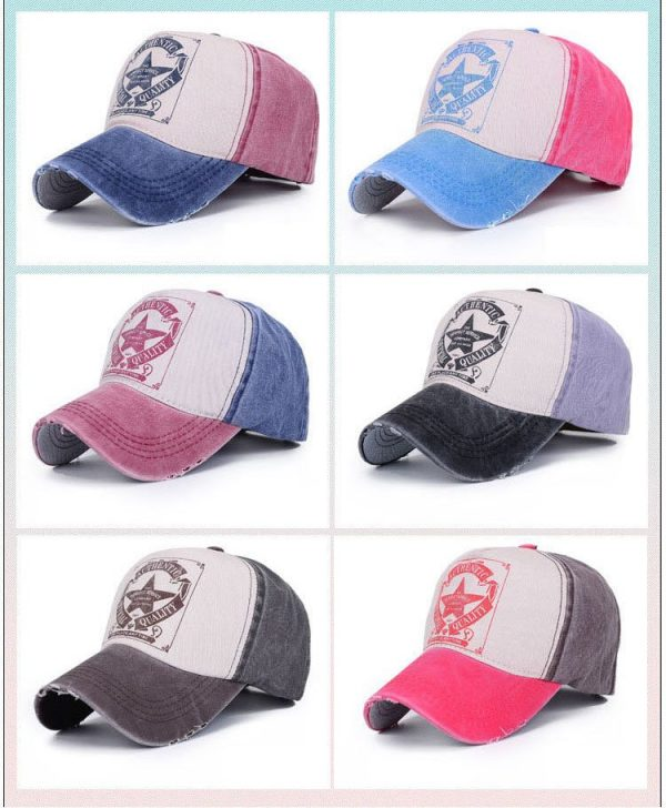 [AETRENDS] 6 Colors ! Star Patchwork Baseball Cap Men or Women Polo Hats Z-1462 10