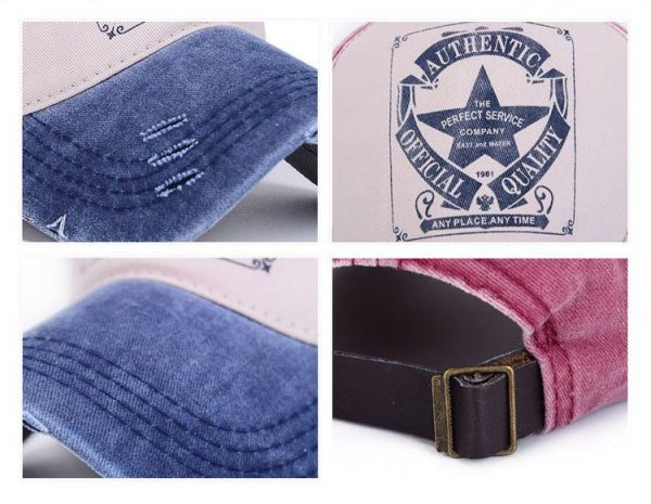 [AETRENDS] 6 Colors ! Star Patchwork Baseball Cap Men or Women Polo Hats Z-1462 12