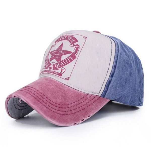 [AETRENDS] 6 Colors ! Star Patchwork Baseball Cap Men or Women Polo Hats Z-1462 24
