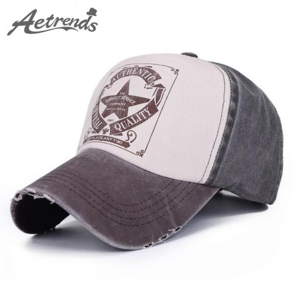 [AETRENDS] 6 Colors ! Star Patchwork Baseball Cap Men or Women Polo Hats Z-1462 2
