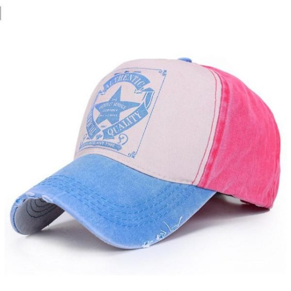 [AETRENDS] 6 Colors ! Star Patchwork Baseball Cap Men or Women Polo Hats Z-1462 14
