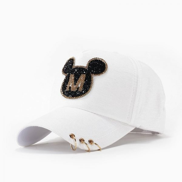 Andybeatty Women Baseball Caps Sun Hats Breathable Cotton Hat Gorras Summer Cap For Women Snapback Casquette Mickey pattern 4