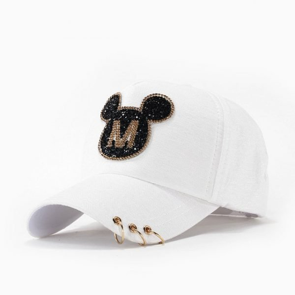 Andybeatty Women Baseball Caps Sun Hats Breathable Cotton Hat Gorras Summer Cap For Women Snapback Casquette Mickey pattern 14