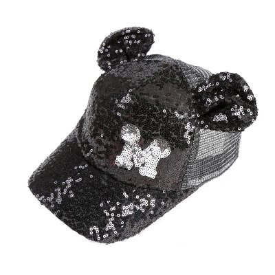 Hot Sequins Ear Hats Kids Snapback Baseball Cap With Ears Funny Hats Spring Summer Hip Hop Boy Hats Caps 15