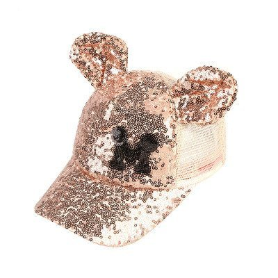 Hot Sequins Ear Hats Kids Snapback Baseball Cap With Ears Funny Hats Spring Summer Hip Hop Boy Hats Caps 19
