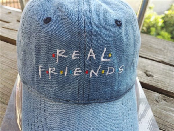 Belababy Real Friends Baseball Caps Curved Chapeau Visor Dad Hats Casquette Brand Bone Fashion Hats 4