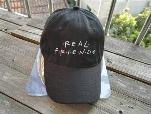 Belababy Real Friends Baseball Caps Curved Chapeau Visor Dad Hats Casquette Brand Bone Fashion Hats 8