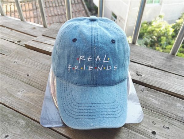 Belababy Real Friends Baseball Caps Curved Chapeau Visor Dad Hats Casquette Brand Bone Fashion Hats 2