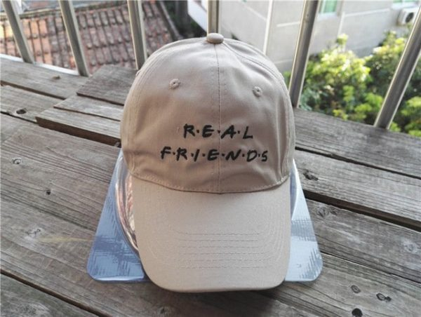 Belababy Real Friends Baseball Caps Curved Chapeau Visor Dad Hats Casquette Brand Bone Fashion Hats 12