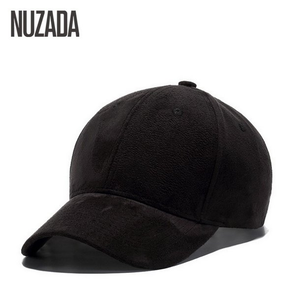 Brand NUZADA Winter Autumn Thickening Suede Fabric Men Women Baseball Caps High Grade Cotton Hip Hop Cap Hats Bone Snapback 16