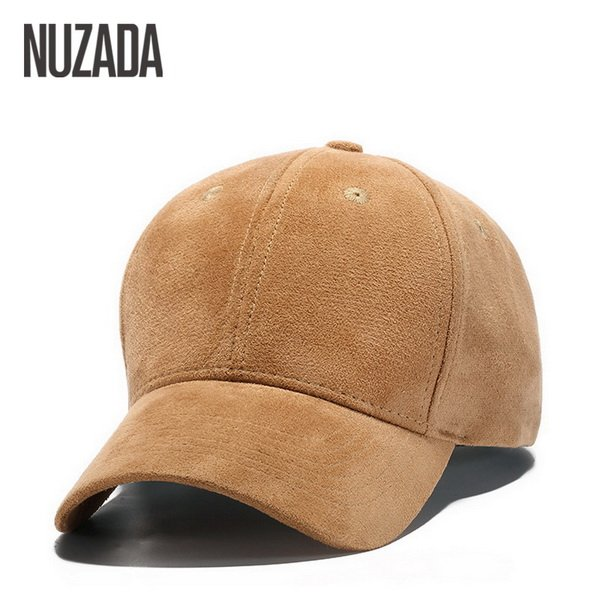 Brand NUZADA Winter Autumn Thickening Suede Fabric Men Women Baseball Caps High Grade Cotton Hip Hop Cap Hats Bone Snapback 24