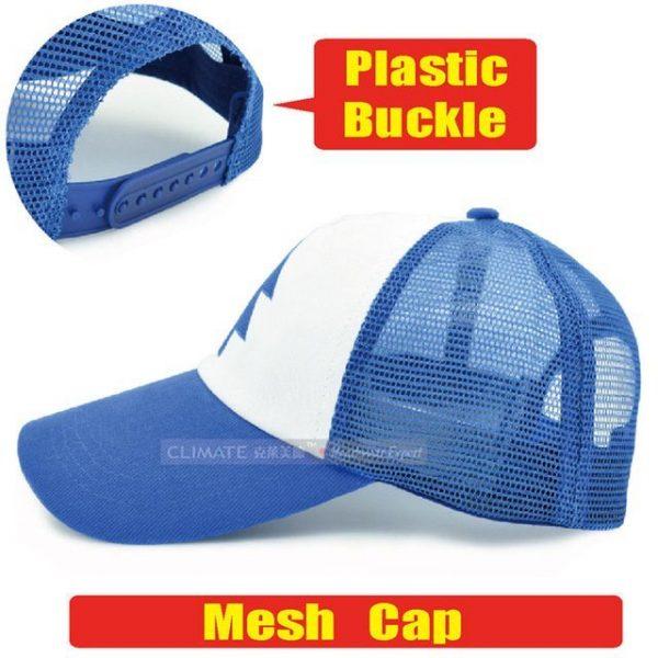 New Spring Summer Gravity Falls U.S Cartoon Mabel Dipper Pines Cosplay Cool Baseball Mesh Caps Adjustable Sport Hat 16