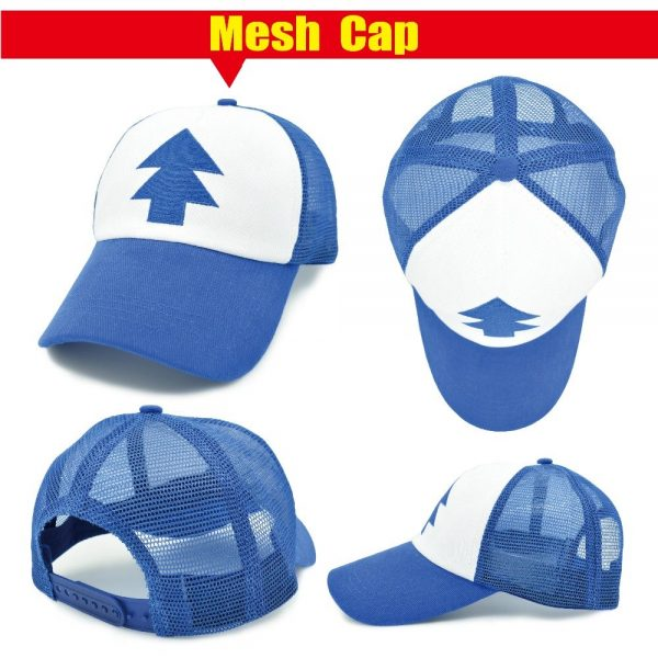 New Spring Summer Gravity Falls U.S Cartoon Mabel Dipper Pines Cosplay Cool Baseball Mesh Caps Adjustable Sport Hat 10