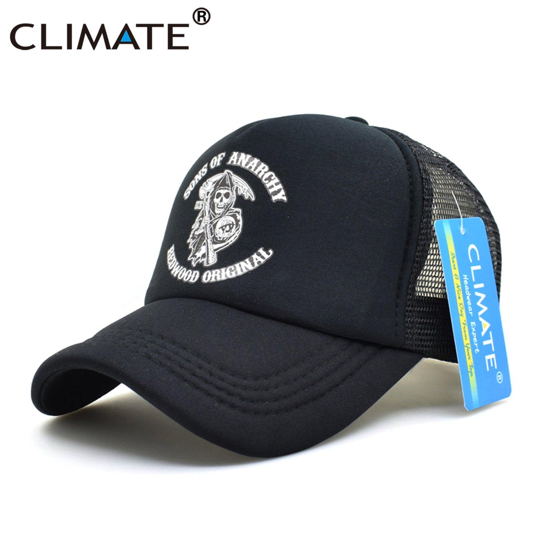 CLIMATE Men Cool Trucker Cap Sons of Anarchy Redwood Death Cool Mesh Caps Jax Teller Summer Baseball Net Trucker Cap Hat For Men 7