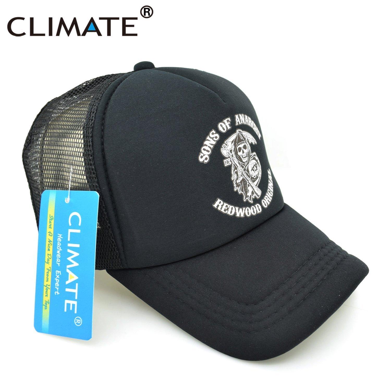 CLIMATE Men Cool Trucker Cap Sons of Anarchy Redwood Death Cool Mesh Caps Jax Teller Summer Baseball Net Trucker Cap Hat For Men 9