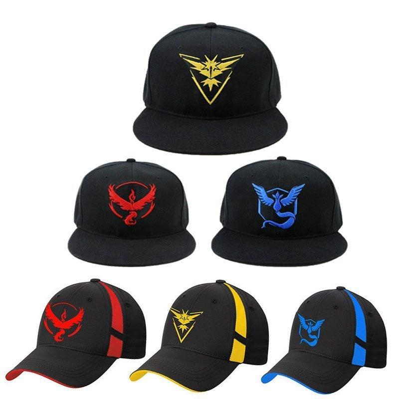 Cosplay Mobile game Pokemon Go Team Valor Team Mystic Team Instinct snapback  baseball Cap hat - Cap shop  2ee40e91f231