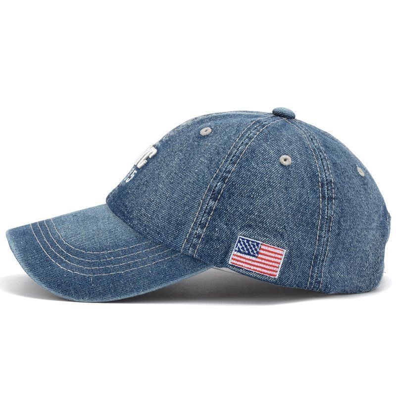 American Australia Flag Mens Womens Adjustable Denim Fabric Baseball Cap Hip-hop Cap