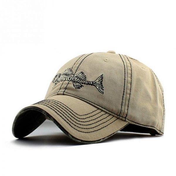 Embroidery fish Black unisex casual brand baseball hats men fashion fish bone pattern baseball caps snapback hat 2017 4