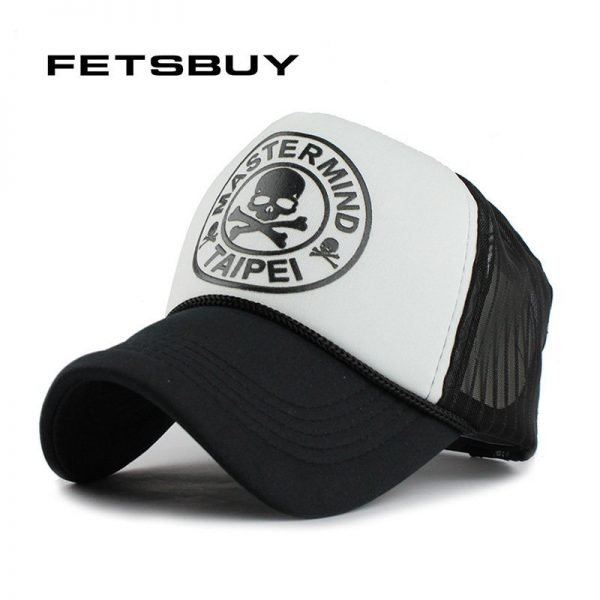 FETSBUY Casual Unisex Skull mesh Baseball Cap Summer Casquette Snapback Gorras Planas Baseball Cap Men Fitted Hats Caps 2