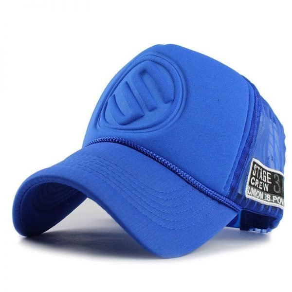 FETSBUY Summer Male And Female Trucker Hats Fitted Casual Hip-hop Street Mesh Hat Casquette Cap Unisex Print Baseball Caps 4