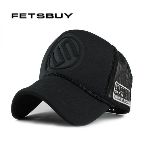 FETSBUY Summer Male And Female Trucker Hats Fitted Casual Hip-hop Street Mesh Hat Casquette Cap Unisex Print Baseball Caps 2