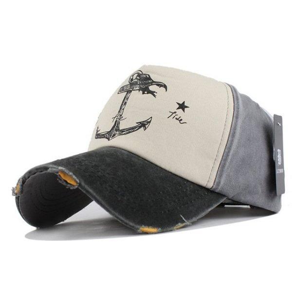 [FLB] 5 panel hip hop snapback hats couples hat Man Woman pure cotton baseball caps do old pirate ship anchor gorras wash cap 16