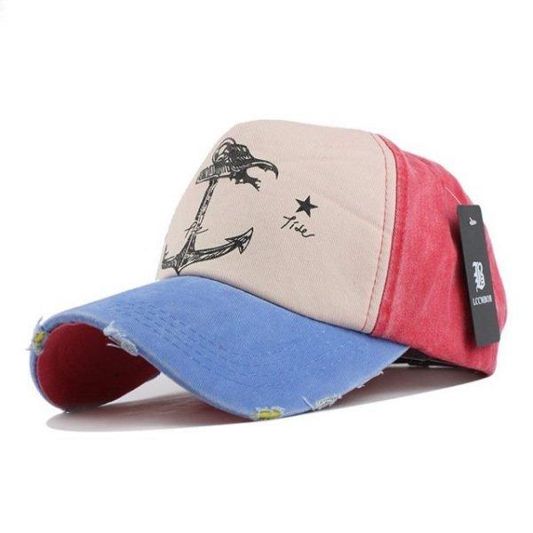 [FLB] 5 panel hip hop snapback hats couples hat Man Woman pure cotton baseball caps do old pirate ship anchor gorras wash cap 22