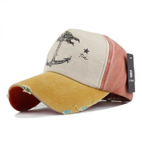 [FLB] 5 panel hip hop snapback hats couples hat Man Woman pure cotton baseball caps do old pirate ship anchor gorras wash cap 12
