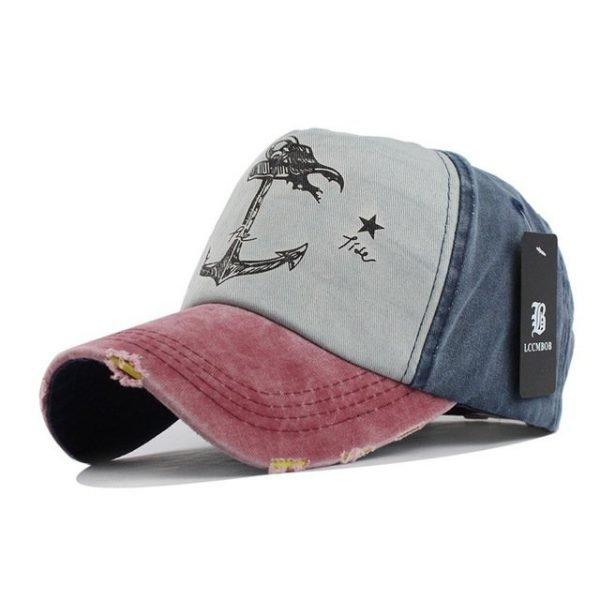[FLB] 5 panel hip hop snapback hats couples hat Man Woman pure cotton baseball caps do old pirate ship anchor gorras wash cap 26