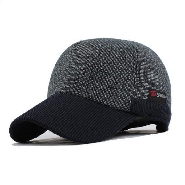 [FLB] Warm Winter Thickened Baseball Cap Men'S Cotton Hat Snapback Winter Hats Ear Flaps For Men Women Hat Wholesale F240 18