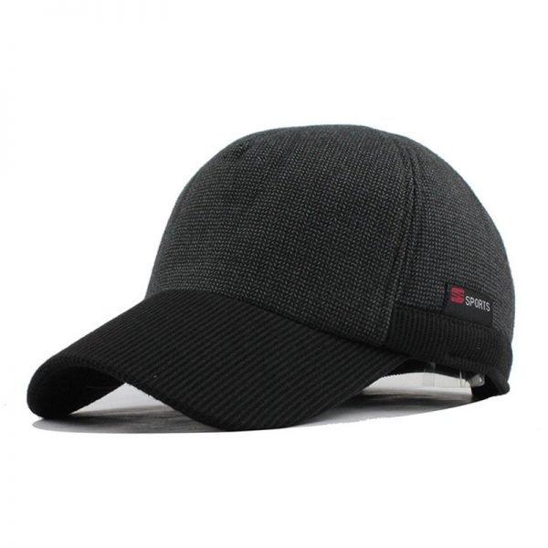[FLB] Warm Winter Thickened Baseball Cap Men'S Cotton Hat Snapback Winter Hats Ear Flaps For Men Women Hat Wholesale F240 8