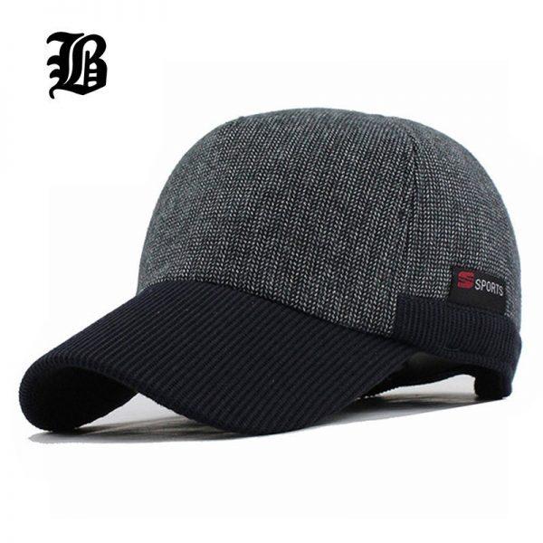 [FLB] Warm Winter Thickened Baseball Cap Men'S Cotton Hat Snapback Winter Hats Ear Flaps For Men Women Hat Wholesale F240 2
