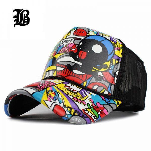 [FLB]Wholesale Adult Fashion Unisex Classic Trucker Baseball Mesh Cap Snapback Hat Vintage Women Men Gorras Hip Hop Baseball Cap 2