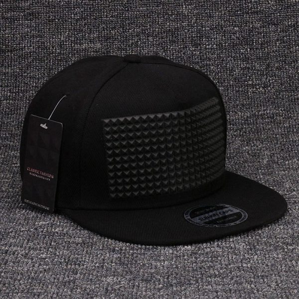 Fancy 3D snapback cap raised soft silicon square pyramid flat baseball hip hop hat for boys and girls 6