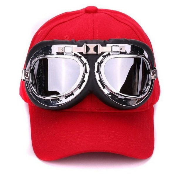 Fancy cotton 6 panels ski goggles baseball cap with polite glasses sports caps decoration novelty halley hat for men and women 16