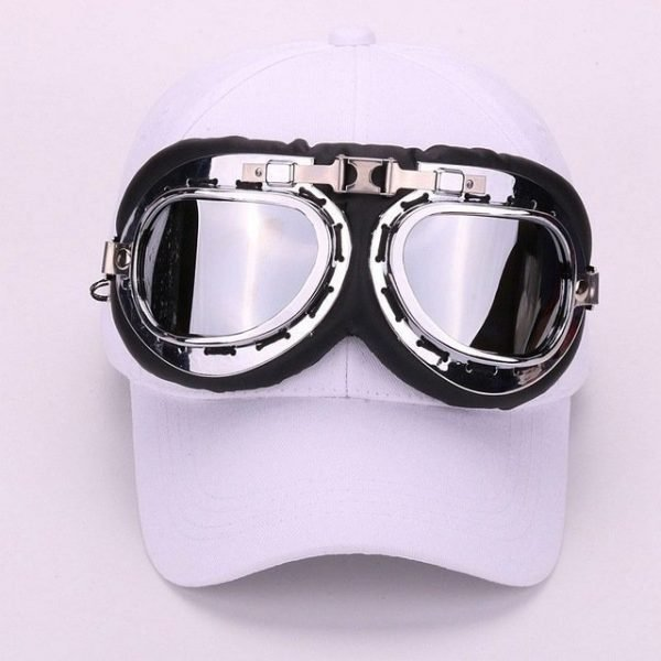 Fancy cotton 6 panels ski goggles baseball cap with polite glasses sports caps decoration novelty halley hat for men and women 18