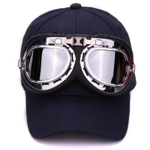 Fancy cotton 6 panels ski goggles baseball cap with polite glasses sports caps decoration novelty halley hat for men and women 20
