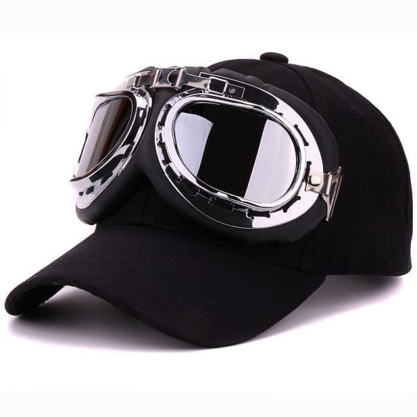 Fancy cotton 6 panels ski goggles baseball cap with polite glasses sports caps decoration novelty halley hat for men and women 2