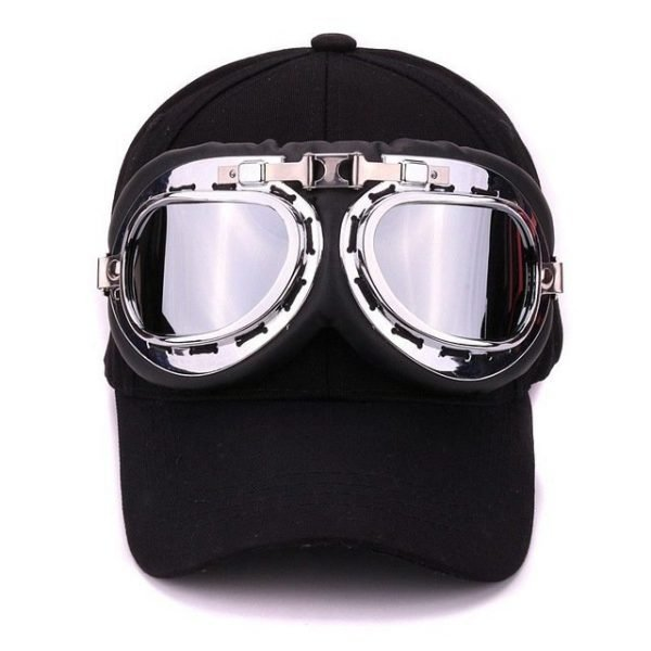 Fancy cotton 6 panels ski goggles baseball cap with polite glasses sports caps decoration novelty halley hat for men and women 14