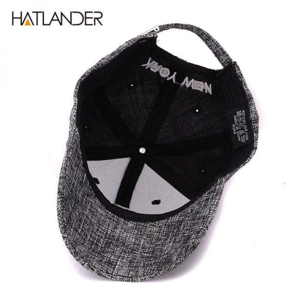 HATLANDER kids cotton linen baseball caps for boys girls outdoor sun hats NY letter adjustable casual children sports cap 10