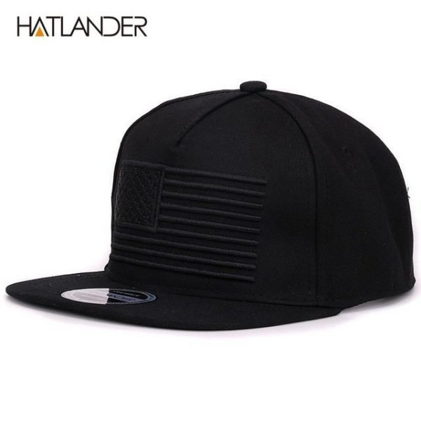[HATLANDER] Raised flag embroidery cool flat bill baseball cap mens gorras snapbacks 3D flag hat ourdoor hip hop snapback caps 16