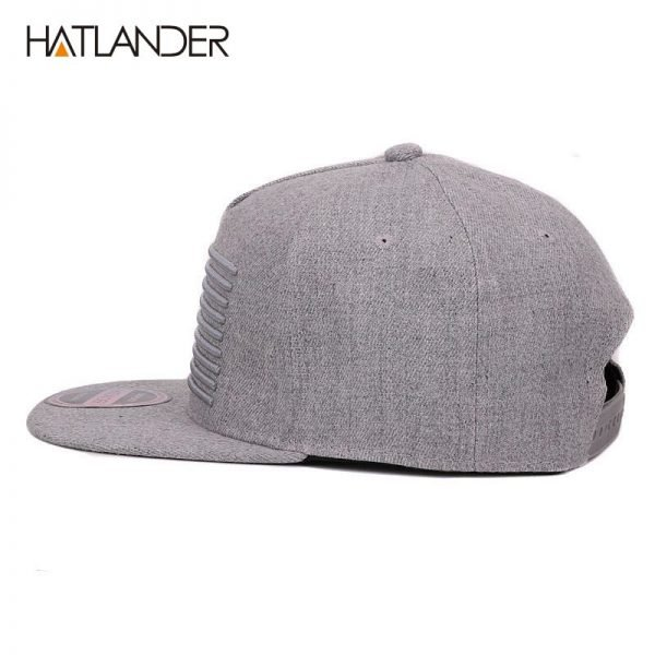 [HATLANDER] Raised flag embroidery cool flat bill baseball cap mens gorras snapbacks 3D flag hat ourdoor hip hop snapback caps 8