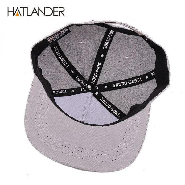 [HATLANDER] Raised flag embroidery cool flat bill baseball cap mens gorras snapbacks 3D flag hat ourdoor hip hop snapback caps 12
