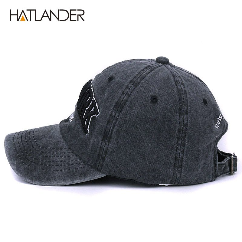 [HATLANDER]Sand washed 100% cotton baseball cap hat for women men vintage dad hat NEW YORK embroidery letter outdoor sports caps 5