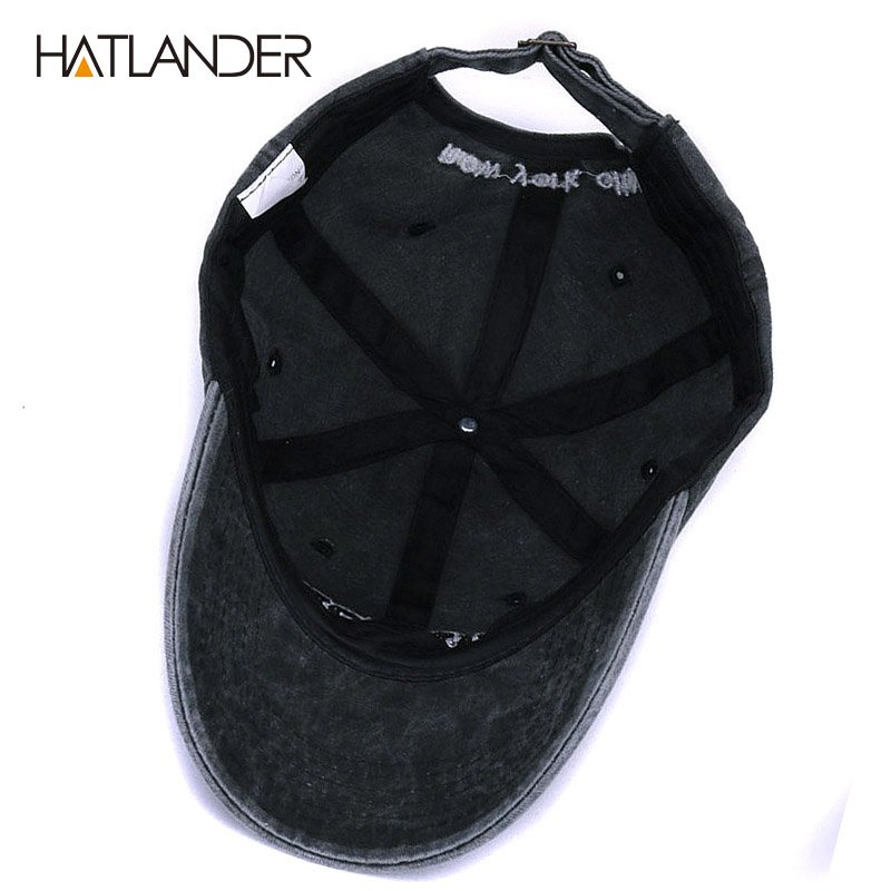 [HATLANDER]Sand washed 100% cotton baseball cap hat for women men vintage dad hat NEW YORK embroidery letter outdoor sports caps 10