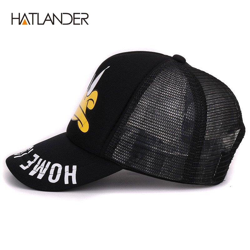Hatlander cute children baseball caps baby girls sun visor hats boys snapback casquette gorras cartoon duck kids summer mesh cap 5
