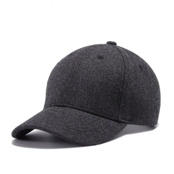 High Quality Solid Winter Baseball Cap Men Bone Trucker Hat Gorras Planas Snapback Hip Hop Dad Cap For Winter Size 55-60cm 4