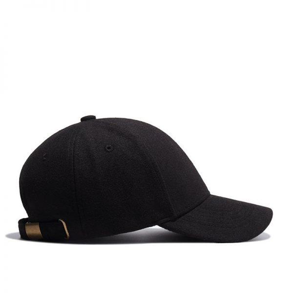 High Quality Solid Winter Baseball Cap Men Bone Trucker Hat Gorras Planas Snapback Hip Hop Dad Cap For Winter Size 55-60cm 6