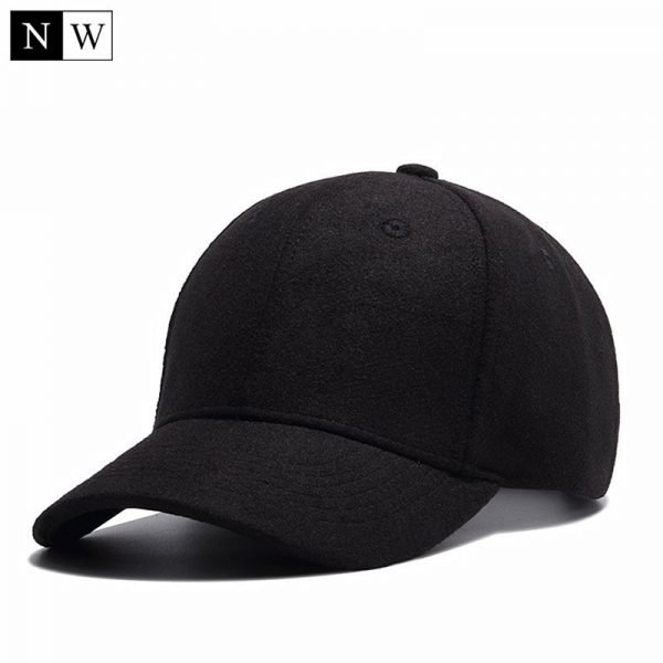 High Quality Solid Winter Baseball Cap Men Bone Trucker Hat Gorras Planas Snapback Hip Hop Dad Cap For Winter Size 55-60cm 2